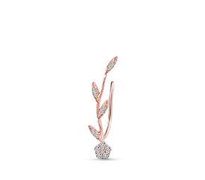 花の葉シングルイヤリング