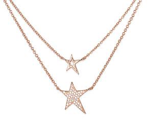 層状の星のネックレス