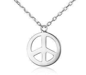 平和のシンボルのペンダントネックレス