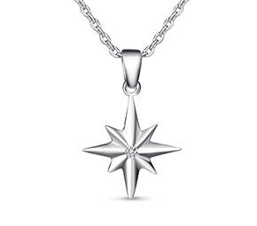 スターバースト純銀製のネックレス