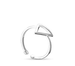 小さな三角形の開口部のリング